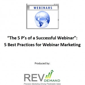 5 Best Practices for a Successful Webinar cover